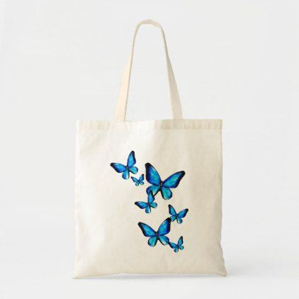 Beautiful Handpainted butterfly on a canvas tote