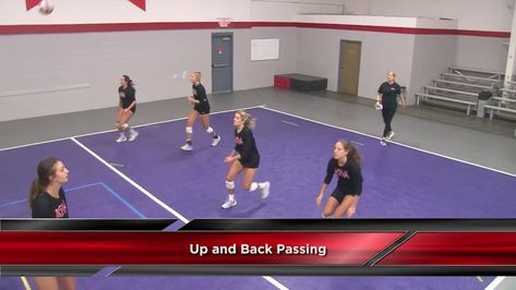 Ball Control Up And Back Passing Drill With Anne Kordes Univ Of Louisville Coaching Volleyball Youth Volleyball Volleyball Skills