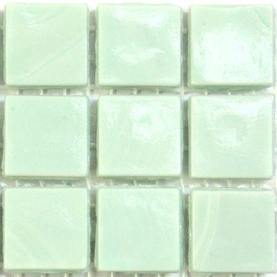 75 Iridescent Teal Vitreous Glass Mosaic 20mm Tiles WA16