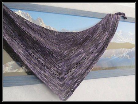 One skein , one shawl.