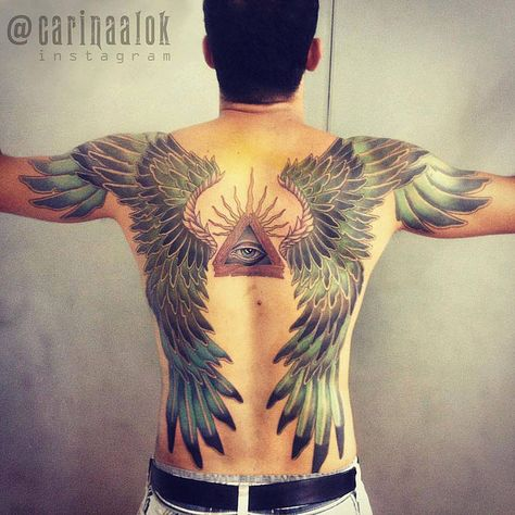 Wings tattoo - Original Dragão Tattoo Studio. Savassi, BH.