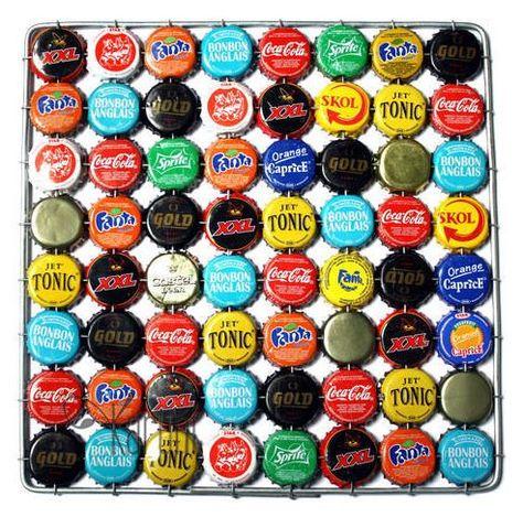 Dessous de plat en capsules de bière