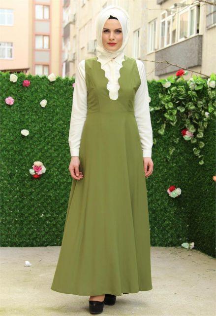Onu Acik Tesettur Jile Elbise Modelleri Elbise Modelleri The Dress Elbise