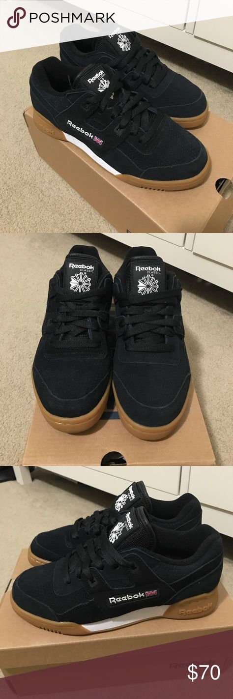 Reebok Classic Reebok Workout Low. Black suede with gum bottom. Worn once  so other 720b9def9