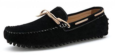 Zapatillas de barco M-Gameon para hombre, Negro, 7.5 M US, Nubuck negro, 7.5 M US