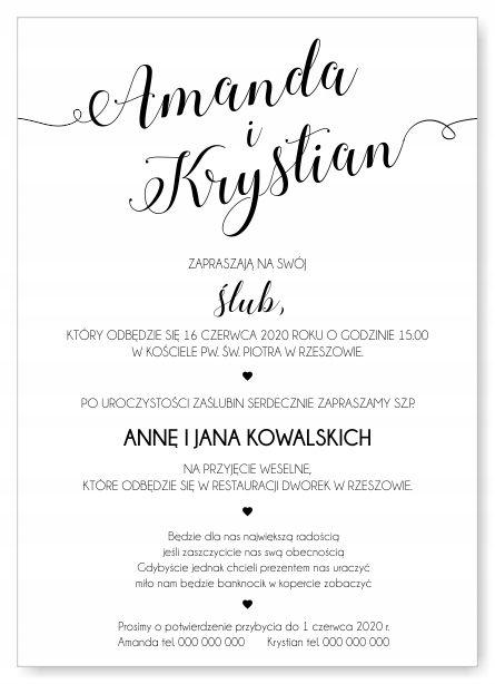 Zaproszenia Slubne Zawiadomienia Kwiaty Liscie 7590137985 Oficjalne Archiwum Allegro Wedding