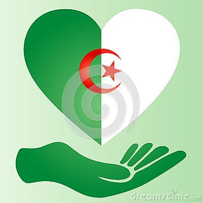 Flag I Love Algeria Heart Arabic Africa Islamic Flag Algeria Flag Algerian Algeria Flag My Love Algeria