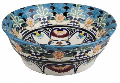 Sink Bathroom Talavera Mexican Vessel Ceramic 138 V
