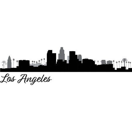 Wallpops Los Angeles Cityscape Wall Art Kit Walmart Com Los Angeles Cityscape Los Angeles Wall Art Los Angeles Skyline