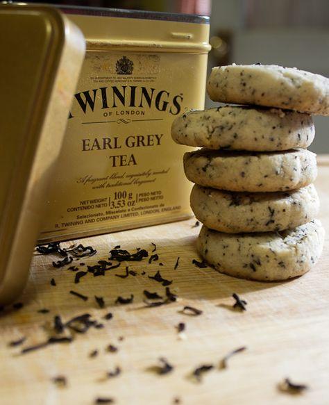 Earl Grey tea shortbread (calls for loose tea & use vegan butter & vegan approved sugar)