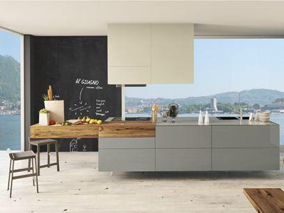 36E8 WILDWOOD Küche mit Kücheninsel Lackierte Küche mit - lackiertes glas küchenrückwand