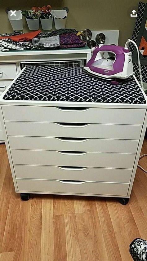 regal ecke ALEX Drawer unit on casters - white - IKEA regal kinderzimmer Sewing Room Storage, Sewing Room Organization, Ikea Storage, Craft Room Storage, Fabric Storage, Bedroom Storage, Storage Ideas, Ikea Sewing Rooms, Storage Drawers