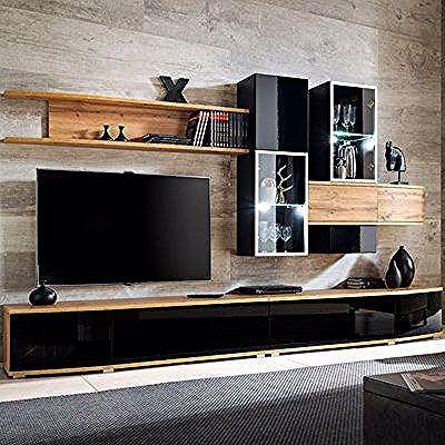 Meuble Tv Design Mural Ensemble Meuble Tv Meuble Tele Bois Flat Screen Flatscreen Tv Electronic Products