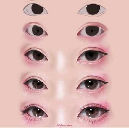 22 Trendy Makeup Korean Face Asian Eyes Digital Art Tutorial Digital Painting Tutorials Eye Drawing Tutorials