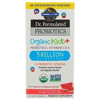 Garden Of Life Dr Formulated Probiotics Organic Kids Tasty Organic Watermelon 30 Yummy Chewables In 2020 Vitamins For Kids Vitamins Best Probiotics For Kids