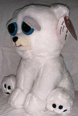Feisty Pets Karl Snarl White Polar Bear 8 Plush Stuffed Animal New Evil Grin Ebay White Polar Bear Plush Stuffed Animals Plush Animals