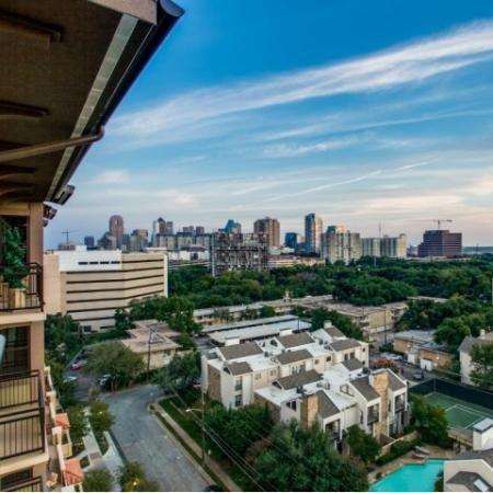 City View Balcony At Cantabria At Turtle Creek Apartments In Dallas Tx City View Apartment Dallas City Cantabria