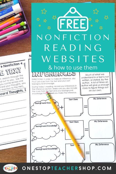 Free Nonfiction Reading Websites for Kids | One Stop Teacher Shop