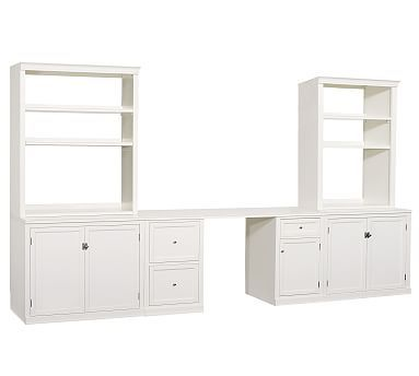 Logan Large Office Suite Antique White 134 Quot Wide With Images Cheap Office Furniture Home Office Furniture Home Office Design