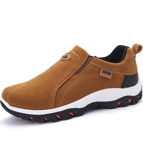 Spring and Autumn Male Adult Loafers Breathable Fashion Mens Sneakers Size 38-47,Khaki,7