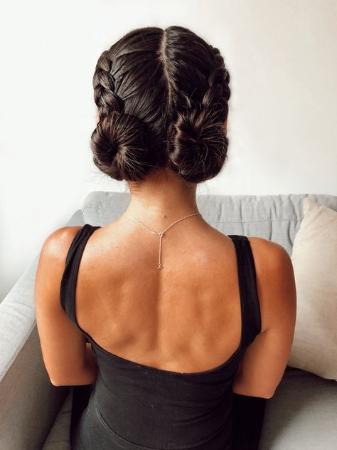 The best braids to wear when you want to feel confident, how to braid hair, easy braids, fishtail braids. How to braid a double dutch bun. # double fishtail Braids 2 Braids I Wear When I want to feel my most Confident — With Love, Caila Braided Bun Hairstyles, Easy Hairstyles, Updo Hairstyle, Braided Updo, Wedding Hairstyles, Quinceanera Hairstyles, Hairstyle Tutorials, Hairstyle Ideas, Curly Hair Styles