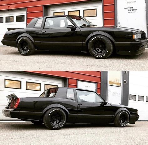 Low Fast Famous — Hot Wheels - Sweet boosted American muscle via. Muscle Cars Vintage, Custom Muscle Cars, Chevy Muscle Cars, Custom Cars, Street Racing Cars, Buick Grand National, Custom Car Interior, Chevy Monte Carlo, Hot Rods