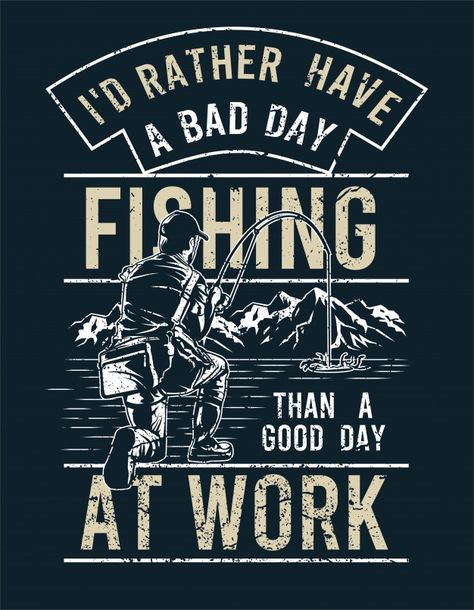 Fishing therapy Premium Vector   Premium Vector #Freepik #vector #mountain #fish #fishing #lake