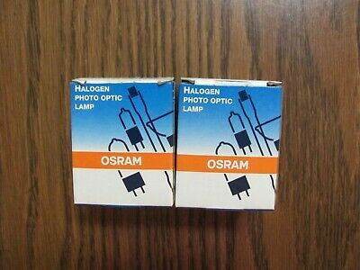 Set Of 2 Osram Fhs 300w 82v Gx5 3 Halogen Photo Optic Lamps Slide Projectors New Slide Projectors Halogen Light Project