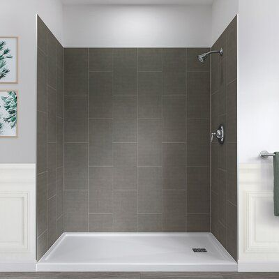 Hazelwood Home Jetcoat 78 X 60 X 32 Five Panel Shower Wall