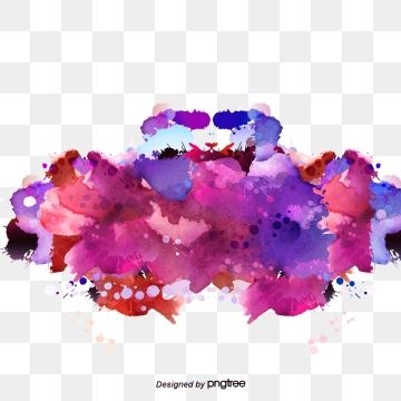 2020 的 Colorful Vector Elements Brush Effect Gorgeous Watercolor