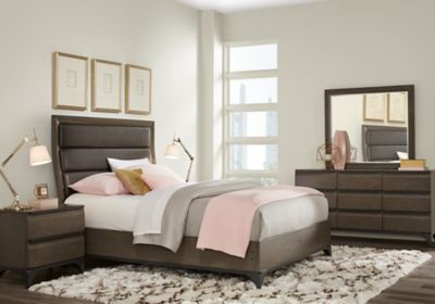 East Tower Gray 7 Pc King Sleigh Bedroom | King size bedroom ...