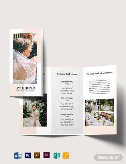 Fall Wedding Brochure Wedding Brochure Wedding Booklet