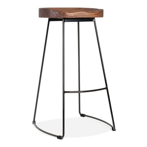 Looking for a pretty yet comfortable stool for your home or commercial space? Meet the Victoria Stool byCult Living!  A true eye-catcher that doesn't only look good but is durable and comfortable too.  Featuring a carefully crafted wooden seat that you can sit on for hours straight without feeling sore. Just like the tractor seats from olden days! Combined with legs made of steel and you've got yourself a strong stool made to last.