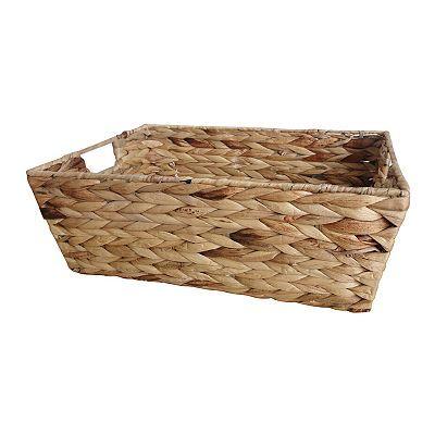 Neu Home Water Hyacinth Tapered Basket Water Hyacinth Basket Home Accessories