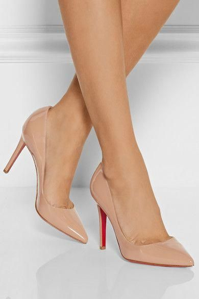 cheaper 47b41 b6f20 Christian Louboutin Pigalle 100 patent-leather pumps ...