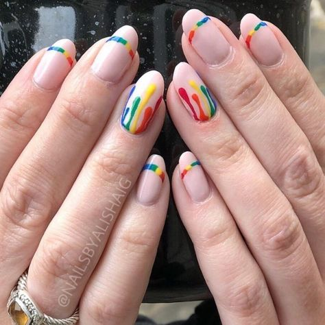 22 Extremely Colourful Nail Art Ideas For Pride Colorful Nail