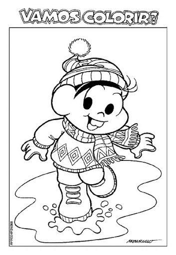 28 Atividades Sobre Inverno Monica Para Colorir Atividades De