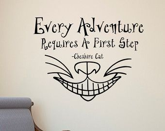 Alice In Wonderland Wall Decals Quotes Cheshire by FabWallDecals