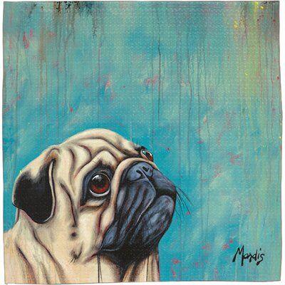 East Urban Home Pug Coaster Pugs Black Pug Puppies Pug Art