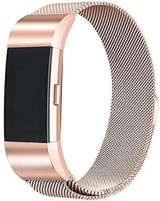 Amazon com: bayite Milanese Loop Bands Compatible Fitbit