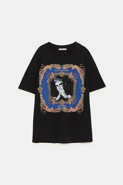 Camiseta elton john©   MODA y SHOES   Camisetas y Zara