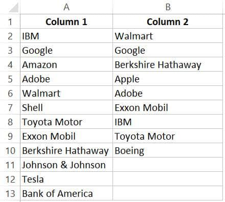How To Compare Two Columns In Excel For Matches Differences Excel Shortcuts Excel Column