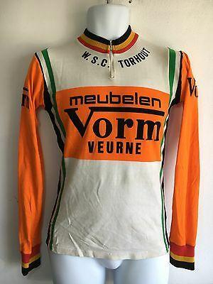 Vtg Cycling Jersey Raxar Belgium Wsc Torhout Meubelen Vorm Veurne Team Orange Ebay Team Cycling Jerseys Cycling Jersey Bike Jersey