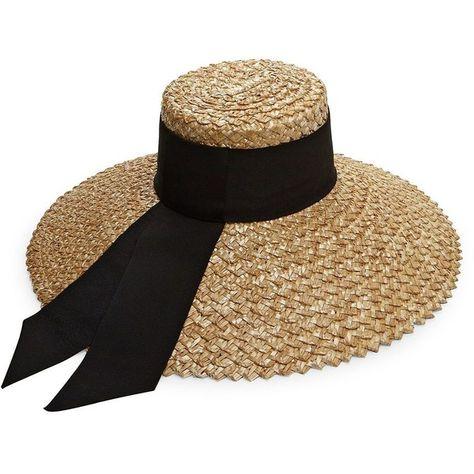 acfaa4283 Eugenia Kim Mirabel Grosgrain-Trim Straw Sun Hat (27.600 RUB ...
