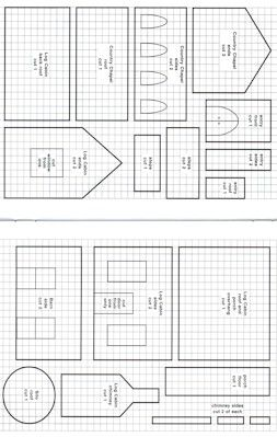 Templates for Putz Houses Gingerbread Gingerbread House Template Printable, Gingerbread House Patterns, Gingerbread House Parties, Gingerbread Village, Christmas Gingerbread House, Christmas Templates, Christmas Cookies, Christmas Holidays, Christmas Crafts