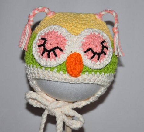 List of Pinterest cable crochet beanie pattern owl hat images ... 77a918771f8