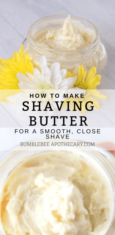 Shaving butter recipe for homemade shaving cream - Bumblebee Apothecary Homemade Shaving Cream, Homemade Skin Care, Homemade Beauty Products, Homemade Deodorant, Homemade Hair, Lush Products, Natural Shaving Cream, Diy Natural Beauty Recipes, Homemade Beauty Recipes