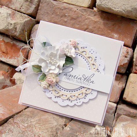 Szydelkiem W Oko Kartka Na Chrzest Wedding Cards Wedding Anniversary Cards Floral Cards