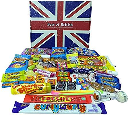 Best Of British Gift Box Of Retro Sweets 100 Made In Britain Amazon Co Uk Grocery Retro Sweets British Gifts Retro