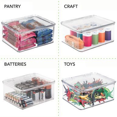 Small Stackable Battery Storage Box 5 6 X 6 7 X 3 Makeup